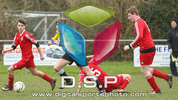 Sway FC Under 18's VS Ringwood Town FC Under 18's - Hampshire County Youth Football League, Division Two. Photo by: Stephen Smith<br /> <br /> Full Time Result: Sway FC U18's 0 - 4 Ringwood Town FC U18's.<br /> <br /> Sunday 21st Feb 2016. Jubilee Fields, Sway, Hampshire, United Kingdom.