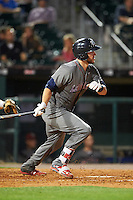 Lehigh Valley IronPigs catcher Logan Moore (11) at bat during a game against the Buffalo Bisons on August 29, 2016 at Coca-Cola Field in Buffalo, New York.  Buffalo defeated Lehigh Valley 3-2.  (Mike Janes/Four Seam Images)