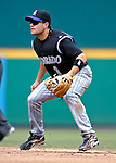 21 July 2007: Colorado Rockies infielder Jamey Carroll in action against the Washington Nationals at RFK Stadium in Washington, DC. The Nationals defeated the Rockies 3-0 in the third game of their 4-game series...Mandatory Photo Credit: Ed Wolfstein Photo