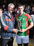 Man of the match Glen Emmets Gordon Healy. Photo: Colin Bell/Pressphotos.ie