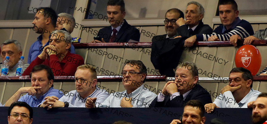 Dragan Djilas Nebojsa Covic Crvena Zvezda - Bayern Munich Euroleague basketball match in Pionir Arena in Belgrade, Serbia on December 18. 2015. (credit image & photo: Pedja Milosavljevic / STARSPORT)