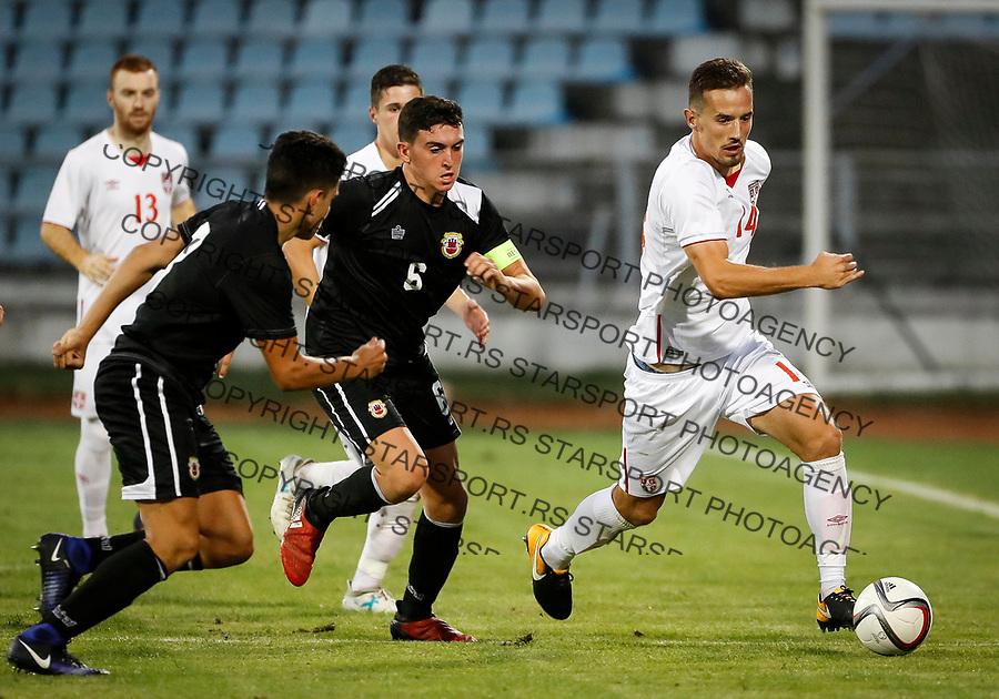 Fudbal Soccer<br /> Reprezentacija Srbije U21<br /> Kvalifikacije za U21 EURO 2019<br /> Srbija U21 v Gibraltar U21<br /> Vukasin Jovanovic (R)<br /> Jagodina, 09.01.2017.<br /> foto: Srdjan Stevanovic/Starsportphoto &copy;