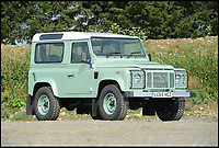 Rowan Atkinson's Land Rover for sale.