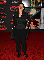 "Carrie-Anne Moss at the world premiere for ""Star Wars: The Last Jedi"" at the Shrine Auditorium. Los Angeles, USA 09 December  2017<br /> Picture: Paul Smith/Featureflash/SilverHub 0208 004 5359 sales@silverhubmedia.com"