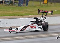 May 5, 2018; Commerce, GA, USA; NHRA top fuel driver Steve Torrence during qualifying for the Southern Nationals at Atlanta Dragway. Mandatory Credit: Mark J. Rebilas-USA TODAY Sports