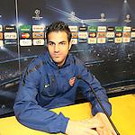 Camp Nou , UEFA Champions League, rueda de prensa previa al partido FC Barcelona - ARsenal FC. En la foto Cesc Fabregas