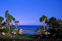 The beautiful infinity pool on the grounds of the Hualalai Resort, Big Island