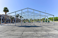 APR 01 Temporary Hospital for Homeless With COVID-19 Being Erected In Las Vegas