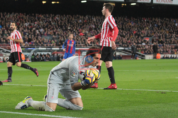 Copa del Rey 2016/2017 - 1/8 final vuelta.<br /> FC Barcelona vs Athletic Club: 3-1.<br /> Gorka Iraizoz.
