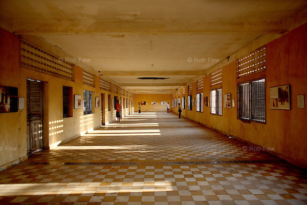 By the end of 1980, more than 300,000 people had visited the museum at S-21, and thousands continue to see it each year. This room, where hundreds of prisoners were once shackled head to toe and washed by being hosed down every three to four days, now holds only those who come to learn about the 20th century's dark past.<br /> <br /> On 17th April 1975, after five years of civil war, Cambodia's capital Phnom Penh fell to the Khmer Rouge, who instigated a brutal reign of terror that would see the death of some 1.7 million Cambodians. In an attempt to create a self-sufficient agrarian paradise, cities were emptied, money and religion were banned and roughly a quarter of the population was worked and starved to death or executed. <br /> <br /> At the centre of this brutality was S-21, also known as Tuol Sleng, the Khmer Rouge prison located in the grounds of an old Phnom Penh school. Before the Vietnamese liberation of Phnom Penh on 7th January 1979, at least 14,000 people were tortured and executed here or at the nearby Choeung Ek killing field.