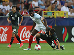 England's Dominic Iorfa tussles with Germany's Marc-Oliver Kempf during the UEFA Under 21 Semi Final at the Stadion Miejski Tychy in Tychy. Picture date 27th June 2017. Picture credit should read: David Klein/Sportimage