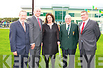 JOHN MITCHELS: The official opening of John Mitchels GAA Sports Complex on Sunday l-r: Sean Kelly (MEP), Sean Walsh (Munster Council), Brid McElligott (Chairperson), Haulie Lynch (President) and Patrick O'Sullivan (Chairman County Board).