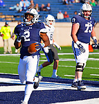 November 2nd, 2019: #2 Alan Lamar walks in for Yale TD as the Bulldogs up their record to 6-1 defeating the Columbia Lions 45-10 in Ivy League football.  The game was held at the Yale Bowl in New Haven, Connecticut. Heary/Eclipse Sportswire/CSM
