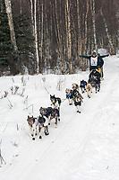 Jeff King w/Iditarider on Trail 2005 Iditarod Ceremonial Start near Campbell Airstrip Alaska SC