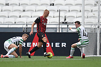 16th July 2020; Nice, France; Veolia Trohy Football friendly, OGC Nice versus Celtic FC;  Kasper Dolbert nice confuses the celtic defenders and scores for Nice