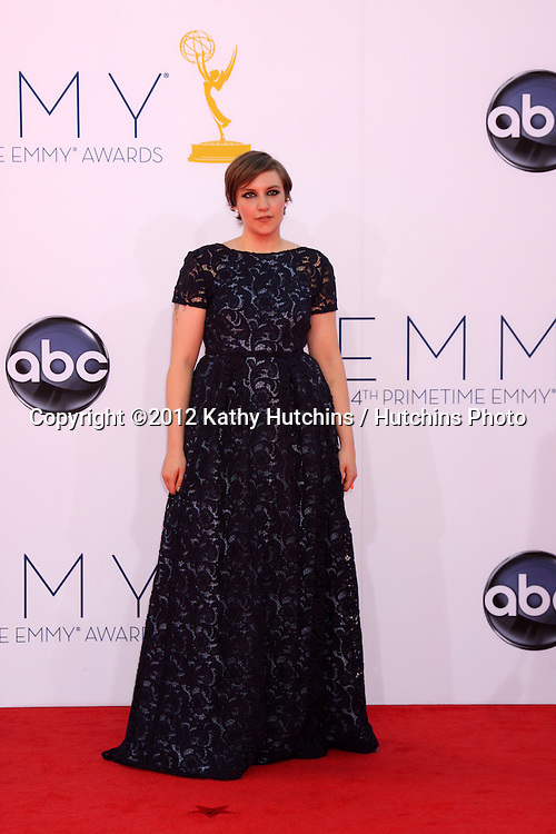 LOS ANGELES - SEP 23:  Lena Dunham arrives at the 2012 Emmy Awards at Nokia Theater on September 23, 2012 in Los Angeles, CA