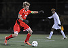 Lucas Sauer #22 of Plainedge moves a ball past midfield during the Nassau County Class A varsity boys soccer semifinals against Glen Cove at Adelphi University on Friday, Oct. 28, 2016.