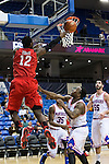 Seattle Redhawks forward Clarence Trent (12) in action during the game between the Seattle Redhawks and the Texas Arlington Mavericks at the College Park Center arena in Arlington, Texas. Seattle defeats Arlington 61 to 44....