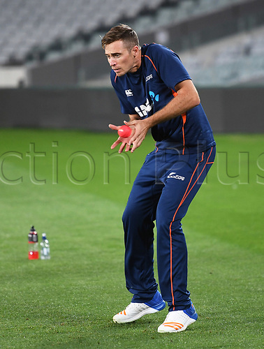 20th March 2018, Eden Park, Auckland, New Zealand;  Tim Southee.<br /> New Zealand Blackcaps twilight training session ahead of the 1st day/night test match against England