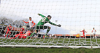 Jack Marriott of Luton Town puts his side 2-1 up during the Sky Bet League 2 match between York City and Luton Town at Bootham Crescent, York, England on 27 February 2016. Photo by Liam Smith.