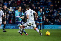 Sam Saunders of Wycombe Wanderers during the Sky Bet League 2 match between Wycombe Wanderers and Luton Town at Adams Park, High Wycombe, England on the 21st January 2017. Photo by Liam McAvoy.