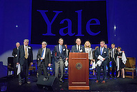 Bright College Years. Yale Athletics Blue Leadership Ball & George H.W. Bush '48 Lifetime of Leadership Awards. 20 November 2015 at the William K. Lanman Center, Payne Whitney Gymnasium, Yale University.