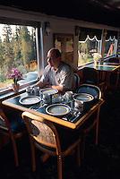 USA, Alaska, Aurora-Express Inn, Hotel in  einer alten Eisenbahn bei Fairbanks