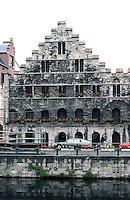 Ghent: 13th C. Granary. Graslei (canal)  Photo '87.
