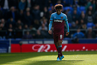 Felipe Anderson of West Ham United looks dejected during the Premier League match between Everton and West Ham United at Goodison Park on October 19th 2019 in Liverpool, England. (Photo by Daniel Chesterton/phcimages.com)<br /> Foto PHC/Insidefoto <br /> ITALY ONLY
