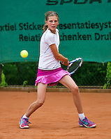 August 4, 2014, Netherlands, Dordrecht, TC Dash 35, Tennis, National Junior Championships, NJK,  Frédérique de Vries/Maike Zwaan<br /> Photo: Tennisimages/Henk Koster