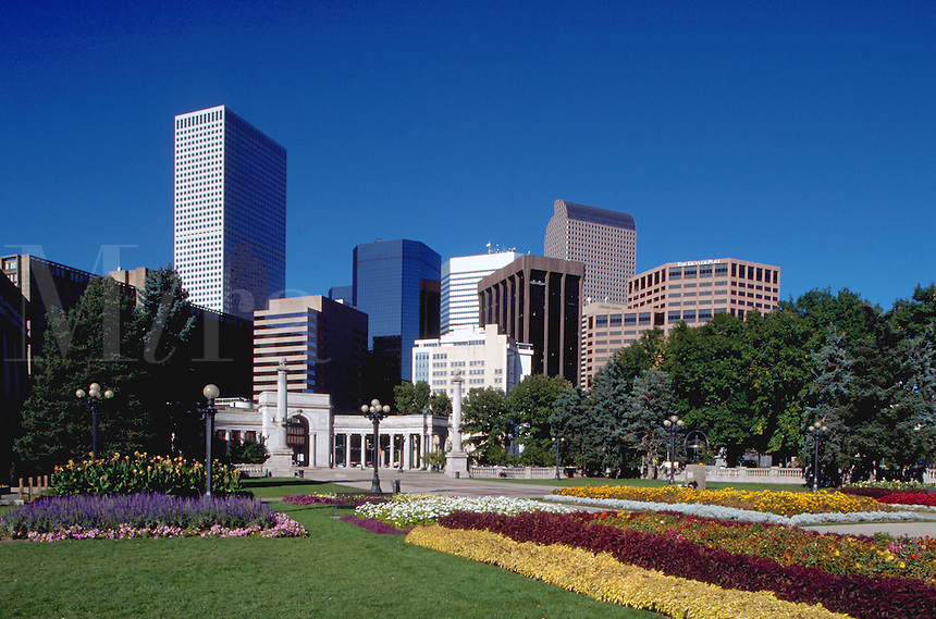 Civic Center Park in downtown Denver. Colorado.