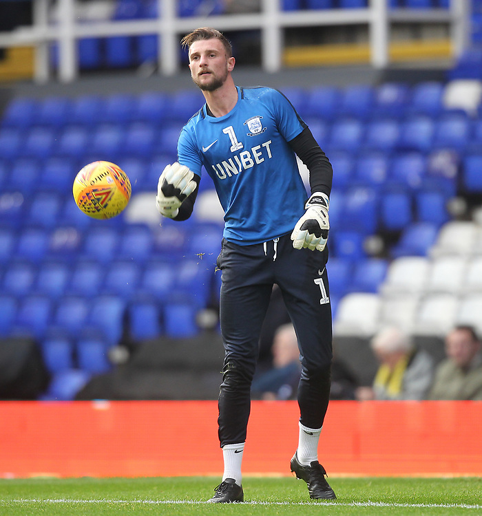 Preston North End's Declan Rudd<br /> <br /> Photographer Mick Walker/CameraSport<br /> <br /> The EFL Sky Bet Championship - Birmingham City v Preston North End - Saturday 1st December 2018 - St Andrew's - Birmingham<br /> <br /> World Copyright &copy; 2018 CameraSport. All rights reserved. 43 Linden Ave. Countesthorpe. Leicester. England. LE8 5PG - Tel: +44 (0) 116 277 4147 - admin@camerasport.com - www.camerasport.com