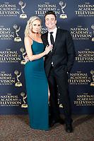 PASADENA - May 5: Melissa Ordway, Daniel Goddard in the press room at the 46th Daytime Emmy Awards Gala at the Pasadena Civic Center on May 5, 2019 in Pasadena, California