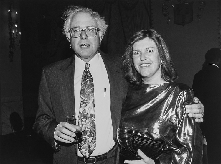 Rep. Bernie Sanders, IND-Vt., and wife Jane O'Meara Sanders, at the Peace Links Gala, on Dec. 10, 1992 (Photo by Laura Patterson/CQ Roll Call via Getty Images)