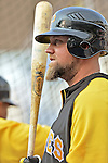 16 May 2012: Pittsburgh Pirates infielder Casey McGehee awaits his turn in the batting cage prior to a game against the Washington Nationals at Nationals Park in Washington, DC. The Nationals defeated the Pirates 7-4 in the first game of their 2-game series. Mandatory Credit: Ed Wolfstein Photo