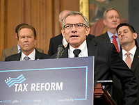 United States Representative David S. Schweikert (Republican of Arizona) makes remarks as US Senate and House Republicans announce their new tax plan endorsed by US President Donald J. Trump in the US Capitol in Washington, DC on Wednesday, September 27, 2017. Photo Credit: Ron Sachs/CNP/AdMedia