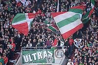 FUSSBALL   1. BUNDESLIGA  SAISON 2011/2012   32. Spieltag FC Augsburg - FC Schalke 04         22.04.2012 Die Ultras Fankurve vom FC Augsburg