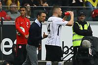 celebrate the goal, Torjubel zum 1:0 von Ante Rebic (Eintracht Frankfurt) mit Trainer Niko Kovac (Eintracht Frankfurt) - 30.09.2017: Eintracht Frankfurt vs. VfB Stuttgart, Commerzbank Arena
