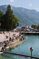 Europe/France/Rhône-Alpes/74/Haute-Savoie/Annecy: Perspective sur le sbords du Thiou et le Lac
