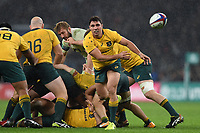 Nick Phipps of Australia passes the ball. Old Mutual Wealth Series International match between England and Australia on November 18, 2017 at Twickenham Stadium in London, England. Photo by: Patrick Khachfe / Onside Images