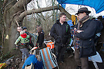 On Sunday 27 January, senior staff from six major environment and conservation groups  visited the Combe Haven valley, site of the planned Bexhill to Hastings Link Road.<br /> <br /> Andy Atkins  director of FOE  talking to Jake Bowers Burbidge <br /> <br /> The heads of Greenpeace, Friends of the Earth, The Wildlife Trusts and the Campaign for Better Transport will join with senior colleagues from RSPB and Campaign to Protect Rural England (CPRE) to see first-hand the area threatened by the planned road and the impact contractors works have already caused. They will also meet protestors taking part in the high profile campaign against its construction and highlight the impacts and threats from the Government's forthcoming roads strategy.