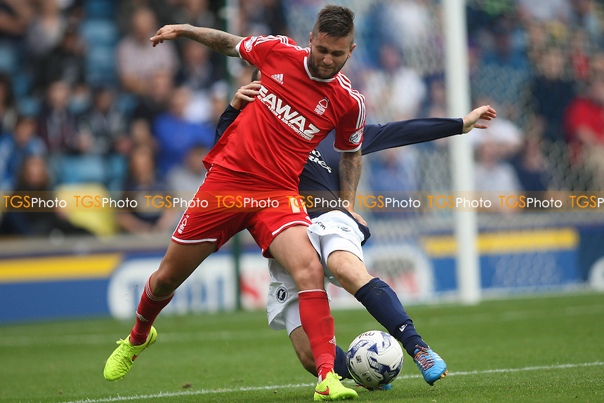 Henri Lansbury of Nottingham Forest  - Millwall vs Nottingham Forest - Sky Bet Championship Football at the New Den, Bermondsey, London - 20/09/14 - MANDATORY CREDIT: George Phillipou/TGSPHOTO - Self billing applies where appropriate - contact@tgsphoto.co.uk - NO UNPAID USE