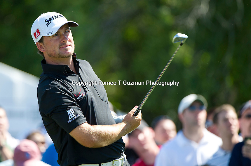 March 25, 2012: Graeme McDowell on the 7th tee during final round golf action of the Arnold Palmer Invitational held at Arnold Palmer's Bay Hill Club & Lodge in Orlando, FL