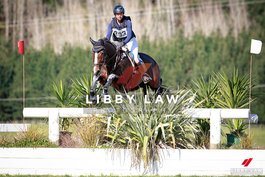 Samantha Felton rides Ricker Ridge Divine Right during the NRM CCI3* Championship Cross Country at the 2017 NZL-NRM National Three Day Event Championships. National Equestrian Center, Taupo. Saturday 13 May. Copyright Photo: Libby Law Photography