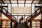 Tokyo, June 28 2013 - Stairs in the Main Hall of Japan Folk Crafts Museum, designed by Japanese designer Soetsu Yanagi.