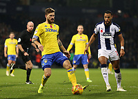 Leeds United's Adam Forshaw gets away from West Bromwich Albion's Matt Phillips<br /> <br /> Photographer David Shipman/CameraSport<br /> <br /> The EFL Sky Bet Championship - West Bromwich Albion v Leeds United - Saturday 10th November 2018 - The Hawthorns - West Bromwich<br /> <br /> World Copyright © 2018 CameraSport. All rights reserved. 43 Linden Ave. Countesthorpe. Leicester. England. LE8 5PG - Tel: +44 (0) 116 277 4147 - admin@camerasport.com - www.camerasport.com
