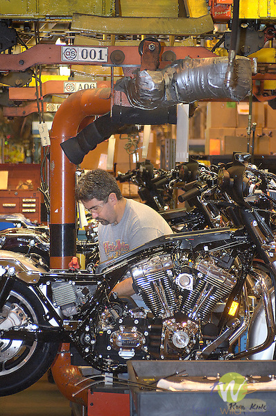 Harley Davidson Motorcycles Assembly Plant.
