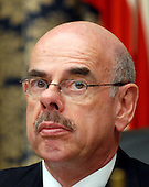 "Washington, D.C. - January 15, 2008 -- United States Representative Henry Waxman (Democrat of the 30th District of California), Chairman, United States House Committee on Oversight and Government Reform questions the witnesses during the hearing on ""The Mitchell Report: The Illegal Use of Steroids in Major League Baseball."" on Tuesday, January 15, 2008..Credit: Ron Sachs / CNP.[RESTRICTION: No New York Metro or other Newspapers within a 75 mile radius of New York City]"