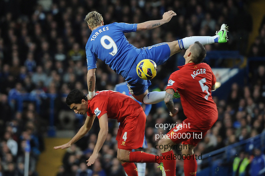 Fernado Torres of Chelsea in action during the Barclays Premier League match between Chelsea and Liverpool at Stanford Bridge on Sunday November 11, 2012 in London, England Picture Zed Jameson/pixel 8000 ltd.