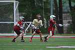 St. George's vs. Evangelical Christian School in lacrosse in Cordova, Tenn. on Thursday, April 14, 2016. St. George's led 7-3 at the half when the match was ended due to lightning.